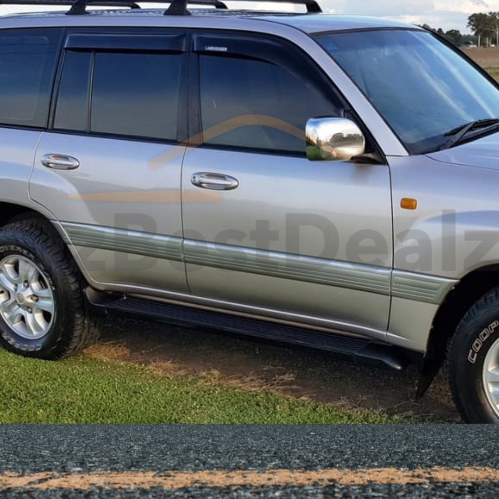 Toyota Landcruiser 100 Series Weather Shields 1998 2007 Black Window Land Cruiser Suitable For