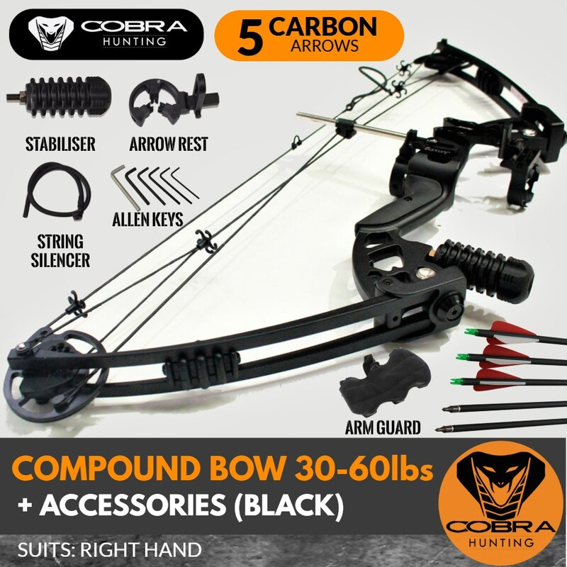 20-60lbs Compound Bow RH Black