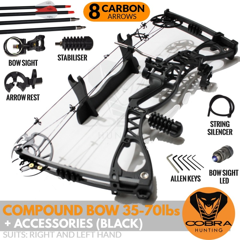 35-70lbs Compound Bow + Arrows + Accessories Package (Left & Right Handed)