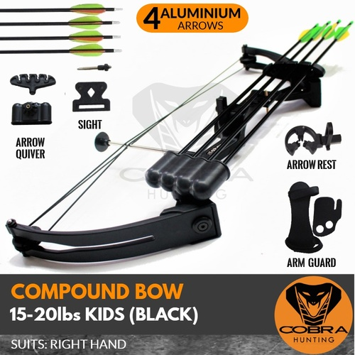 15-20lbs Black Compound Kids Bow RIGHT HAND