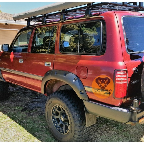 Rear Jungle Fender Flares suitable for Landcruiser 80 Series 1990 - 98