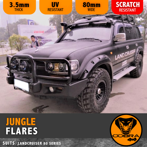 Jungle Flares Suitable for Landcruiser 80 Series 80mm wide