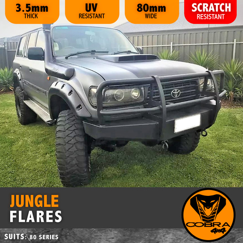 Jungle Flares suitable for 1990-98 Landcruiser 80 Series