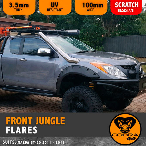 MAZDA BT50 BT-50 2012 - 2017 COBRA 4X4 FRONT JUNGLE FENDER FLARES
