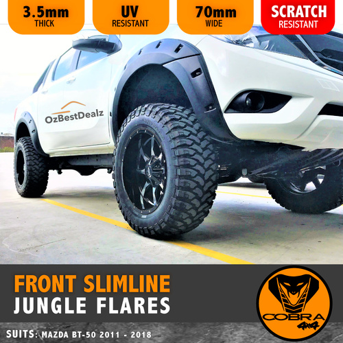 MAZDA BT50 2012 - 2017 FRONT SLIMLINE JUNGLE FLARES (COBRA 4X4) BT50