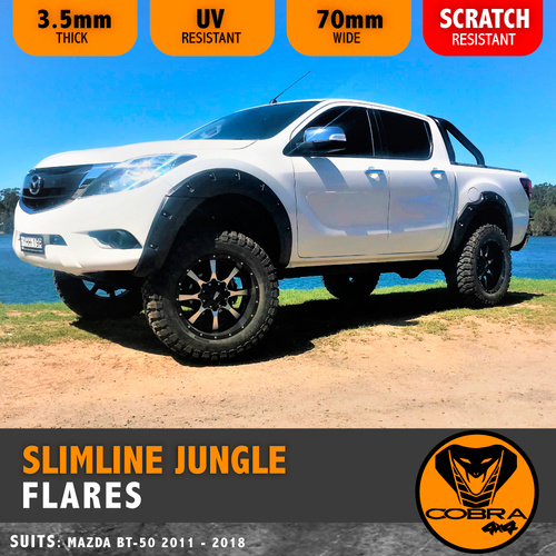 MAZDA BT50 2012 - 2017 SLIMLINE JUNGLE FLARES COBRA 4X4 BT50