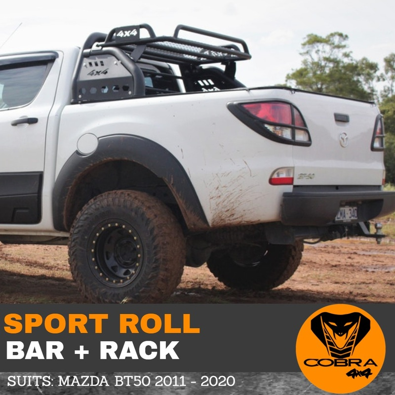 Cobra 4x4 Sports Roll Bar Roof Rack fits Mazda BT50 BT-50 2011 to 2020