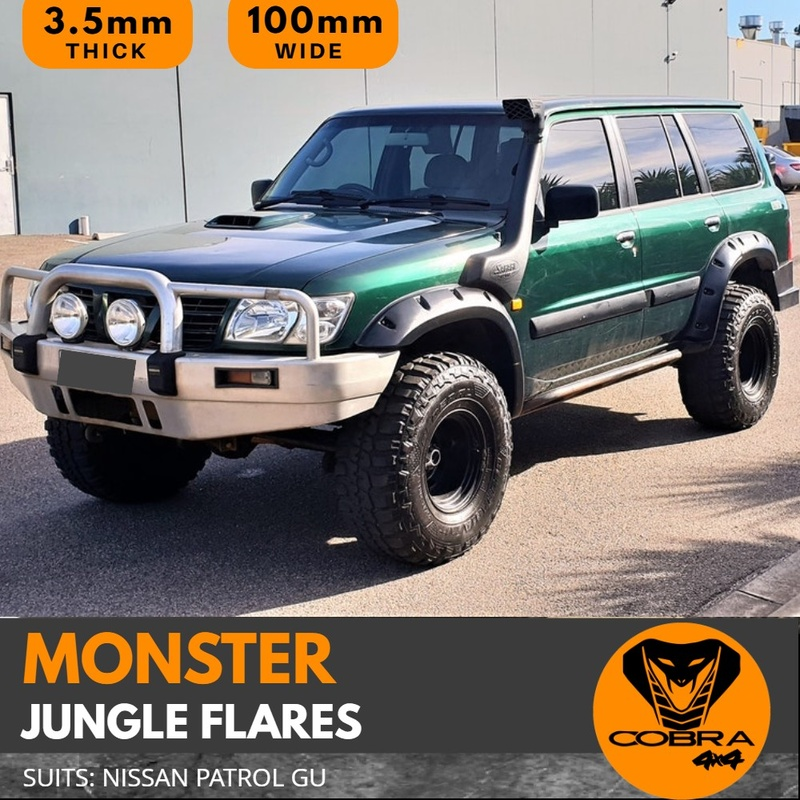 Cobra 4x4 Jungle Flares Suitable for Patrol GU 1997 - 2004 Series 1 2 3