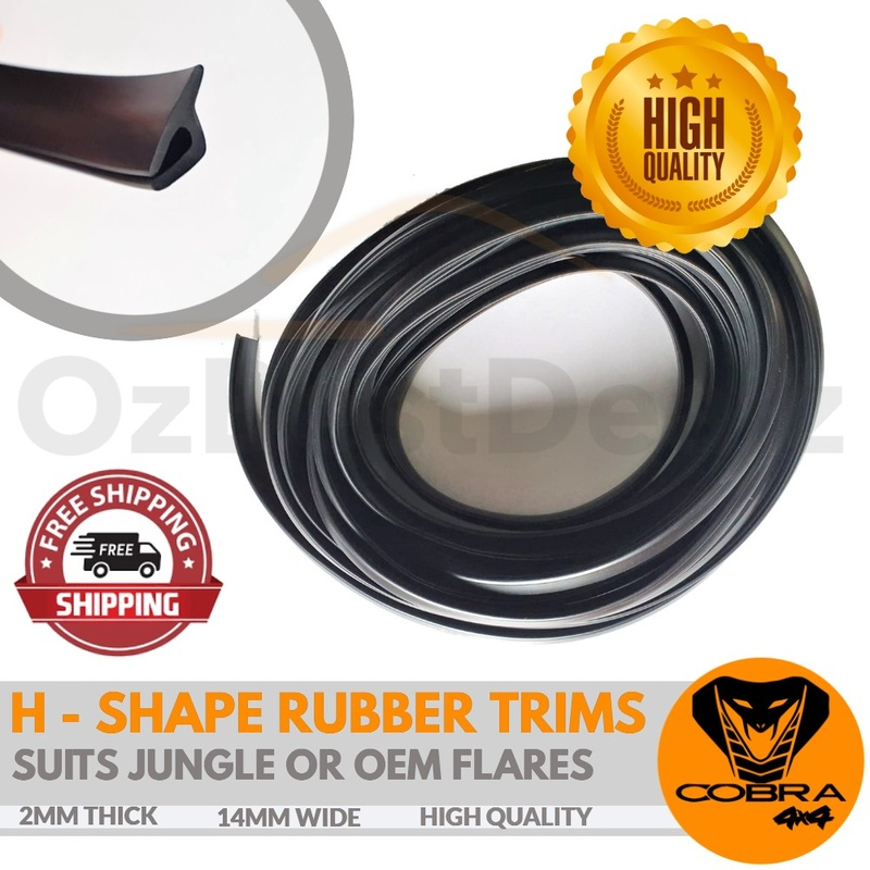 H Shape Fender Rubber Trims suits Jungle or OEM flares High Quality
