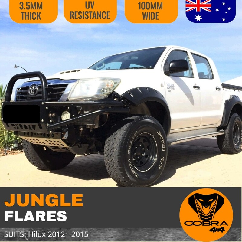 Cobra 4x4 Jungle Flares suitable for Hilux Facelift 2012-2015