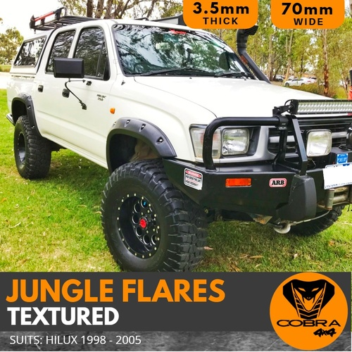 Cobra 4x4 Jungle Flares Suitable for Toyota Hilux 1998 1999 2000 2001 2002 2003 2004 2005