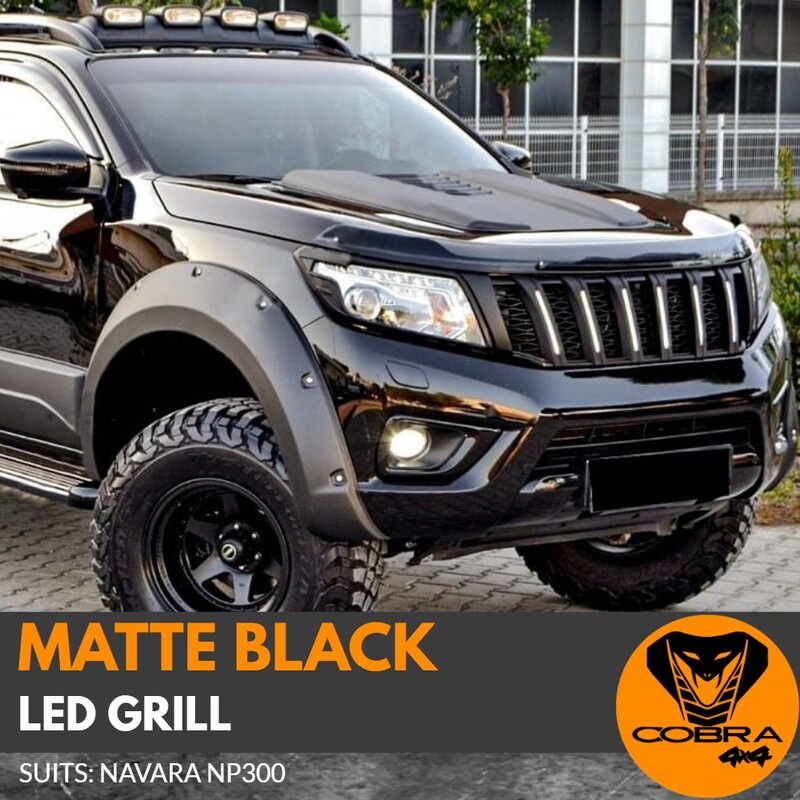 Grill fits Nissan Navara NP300 2015+ Black With LED