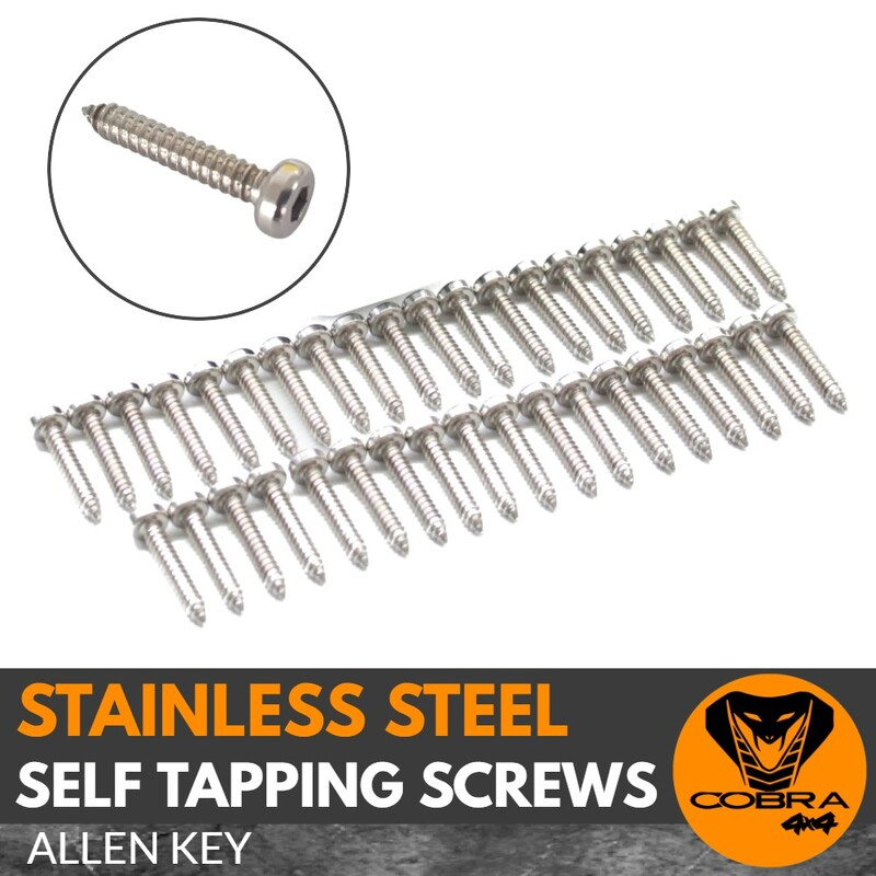 10 x Self tapping Allen Key Stainless Steel Screws for Jungle Fender Flares