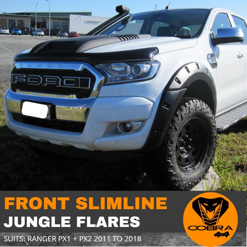 Slimline FRONT Jungle Flares fit Ford Ranger PX1 2011-2018