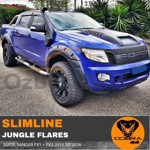 Ford Ranger PX1 PX2 2011-2018 SLIMLINE JUNGLE FLARES COBRA 4X4
