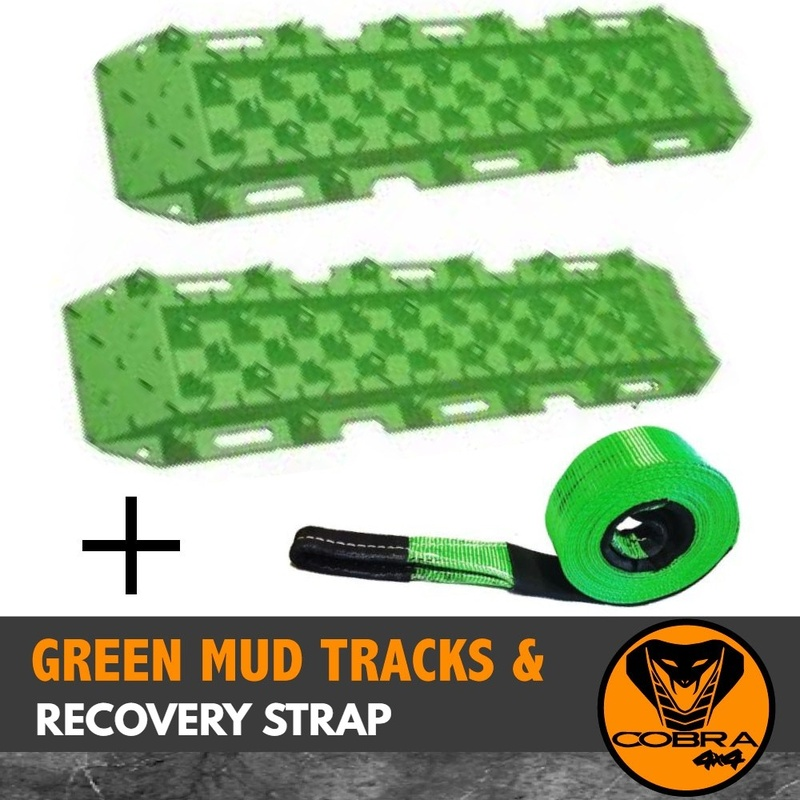 TRACTION TRACKS & SNATCH RECOVERY KIT GREEN