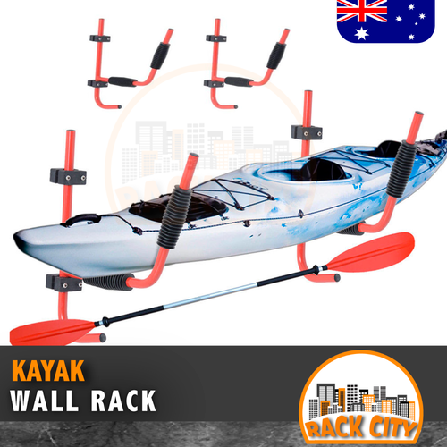 Kayak Rack Canoe Carrier Wall Bracket Paddle Holder Garage Surfboard Storage