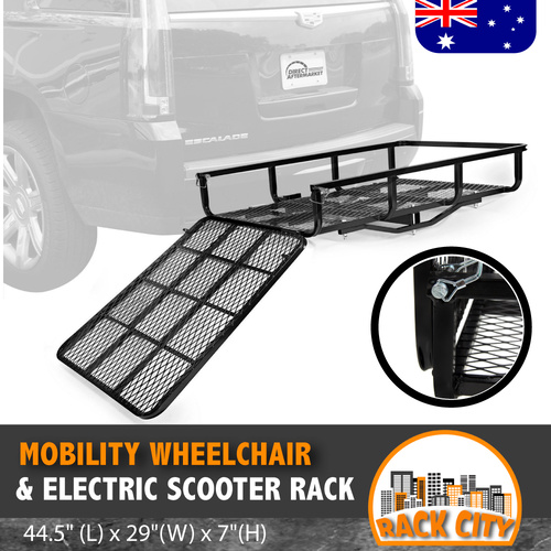 "Mobility Wheelchair & Electric Scooter Rack for Hitch 44.5"" (L) x 29""(W) x 7""(H)"