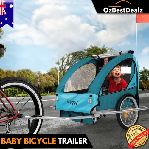Kids Baby Bicycle Trailer Bike Pram Child Carrier Storage Compartment