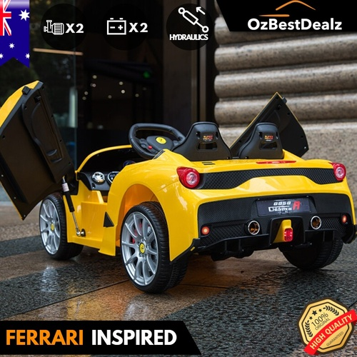 FERRARI inspired Sports Kids Ride On Car Remote