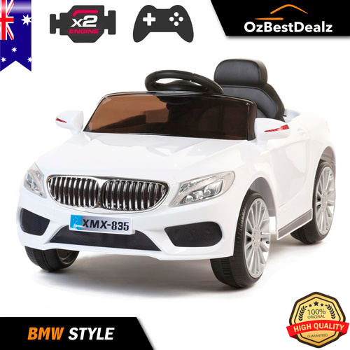 BMW Style White Sports Kids Ride On Car