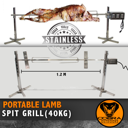 Large 120cm Electric Outdoor Lamb Spit Grill Rotisserie