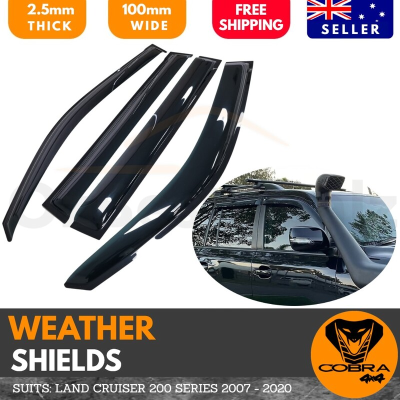 Weather Shields suitable for TOYOTA LANDCRUISER 200 SERIES 2007—2018