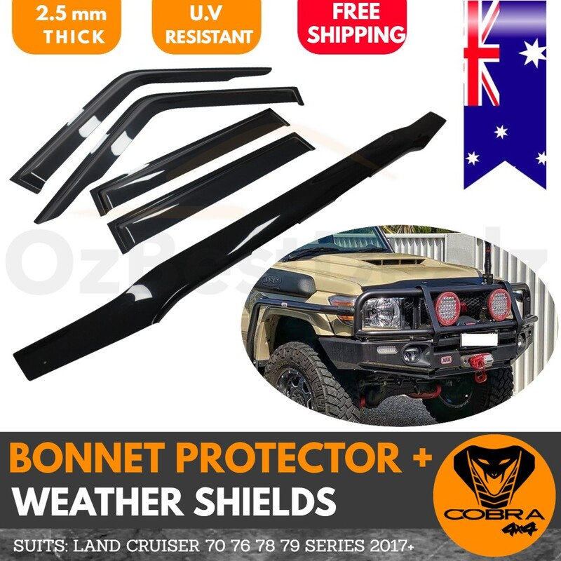 Bonnet Protector & Weather Shield suitable for LANDCRUISER 70 76 78 79 SERIES 2017+ onwards Land Cruiser