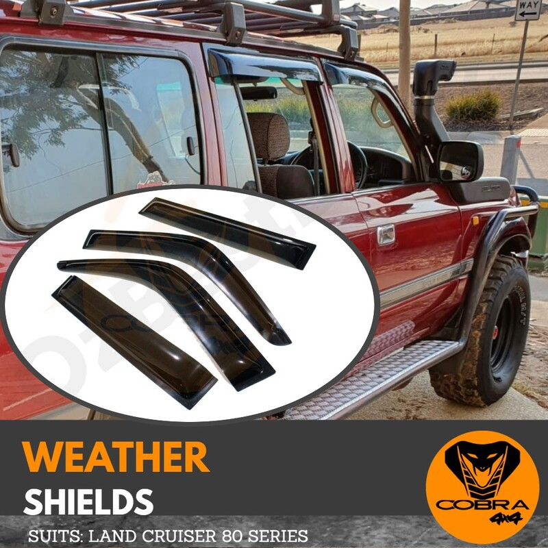 Injection Weather Shields suitable for LAND CRUISER 80 SERIES 1990-1997