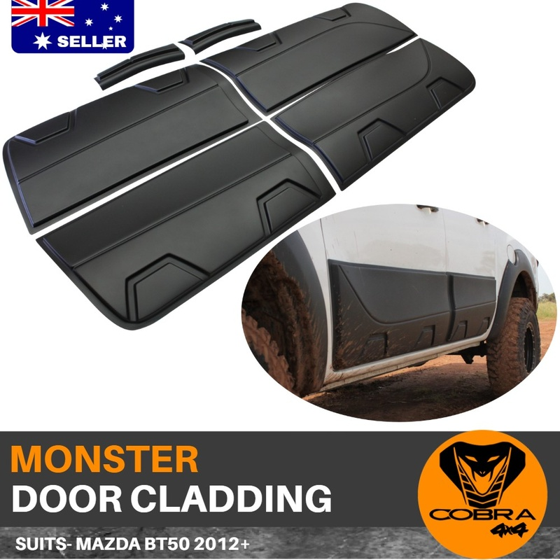 Door Monster Cladding Matte Black FITS Mazda BT50 2012 - 2019