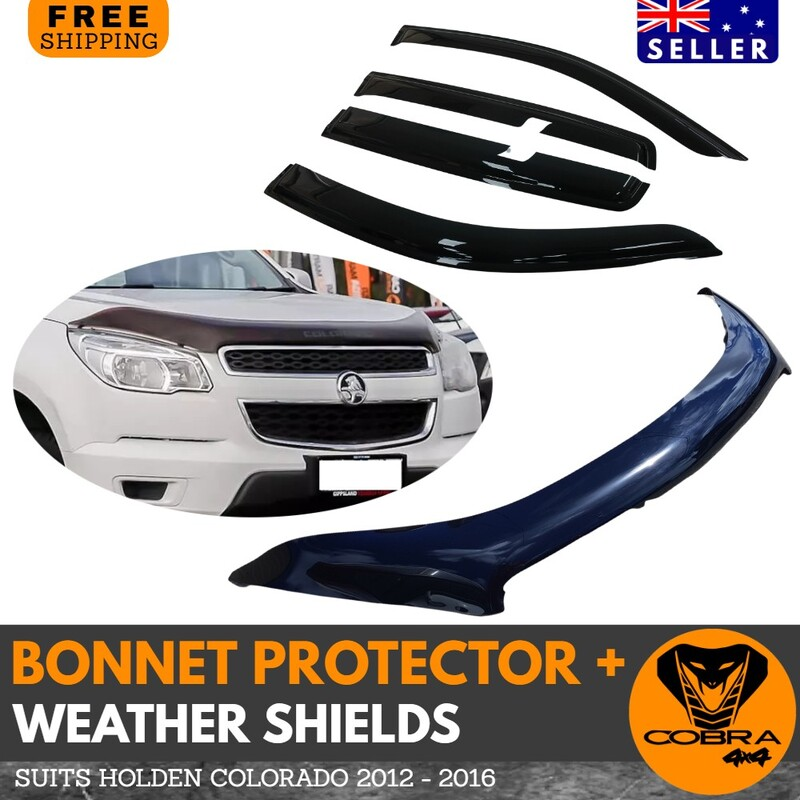 Holden Colorado Window Shield & Bonnet Protector (Injection Moulded) 2012 - 2016
