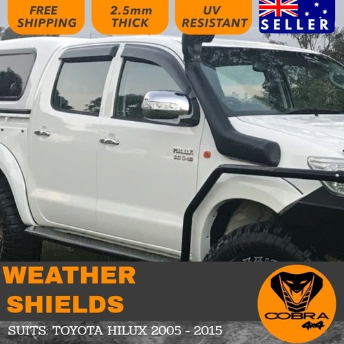 Injection Weather Shields suitable for HILUX 2005-2015