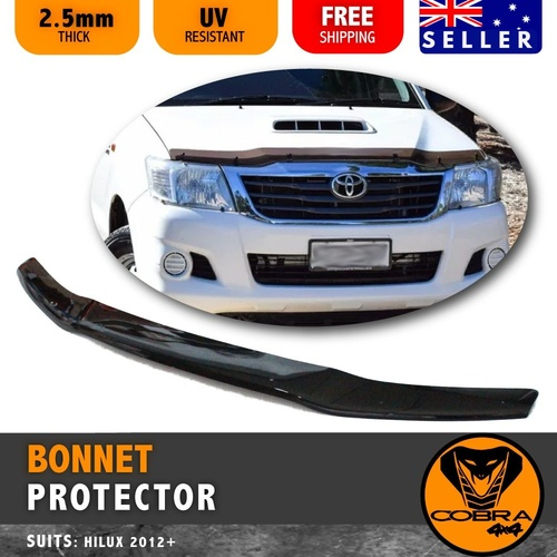 BONNET PROTECTOR suitable for TOYOTA HILUX 2012 - 2015 (BLACK TINTED)