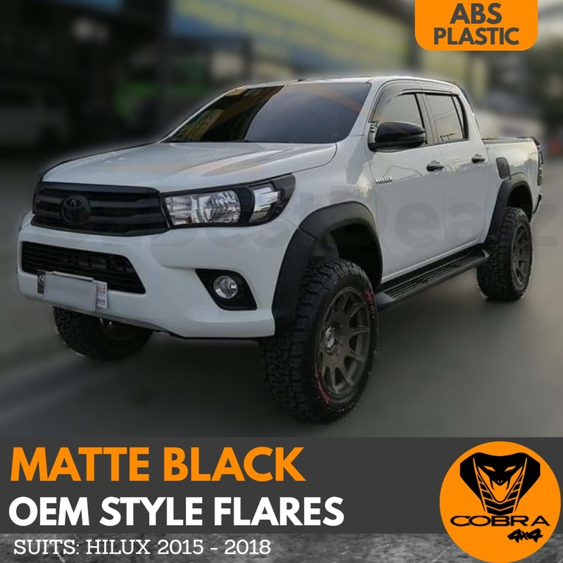 Flares suitable for Toyota Hilux SR5 SR TRD 2015 - 2018