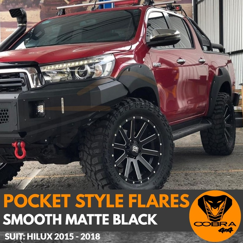 POCKET STYLE FLARES suitable for TOYOTA HILUX 2015 - 2018