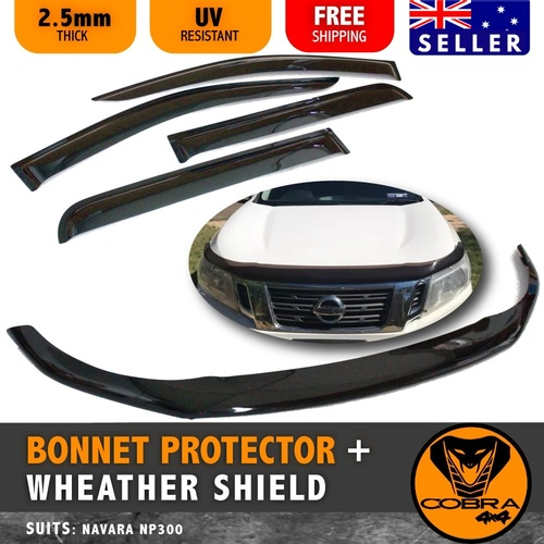 BONNET PROTECTOR AND WEATHER SHIELD SUIT NAVARA NP300 D23 2015 -2018
