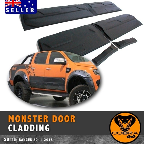 Side Monster Cladding Black FITS Ford Ranger PX1 PX2 PX3 2012-2020