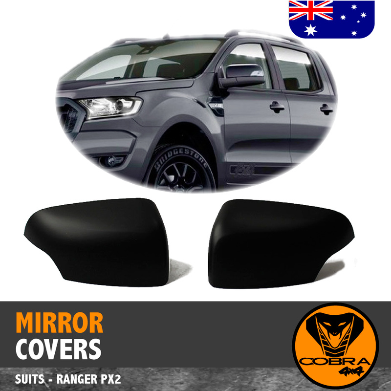 Mirror Covers Matte Black FITS Ford Ranger PX1 PX2 PX3 2012-19 Everest