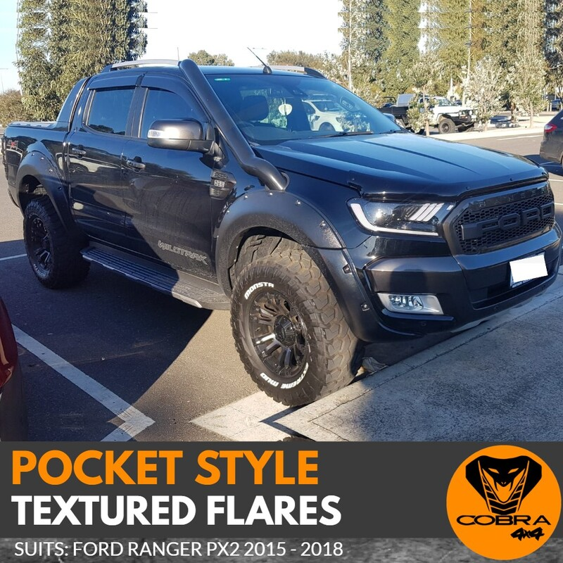 Pocket Style Textured Flares for Ford Ranger PX2 2015-2017
