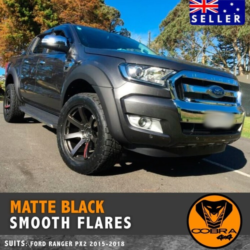 Ford Ranger PX2 Fender Flares Kit 2015 - 2018 Matte Black (3m tape)