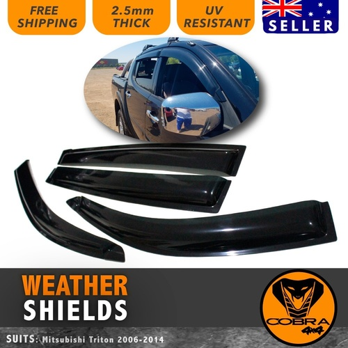 Weather Shields SUIT Mitsubishi Triton MN ML 2006 - 2014 WEATHERSHIELDS