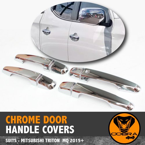 Door Handle Covers Chrome SUIT Mitsubishi Triton  MQ  2015 2016 2017 2018