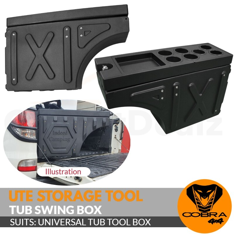 Universal 4x4 Swing Case Storage Tool Box 2-Sided Compatible 4WD UTE Locking Hunting Bullets
