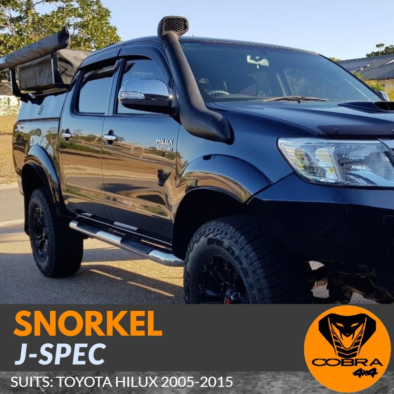 J-Spec Snorkel Kit SUITABLE FOR Toyota Hilux 2005 - 2015 Air intake