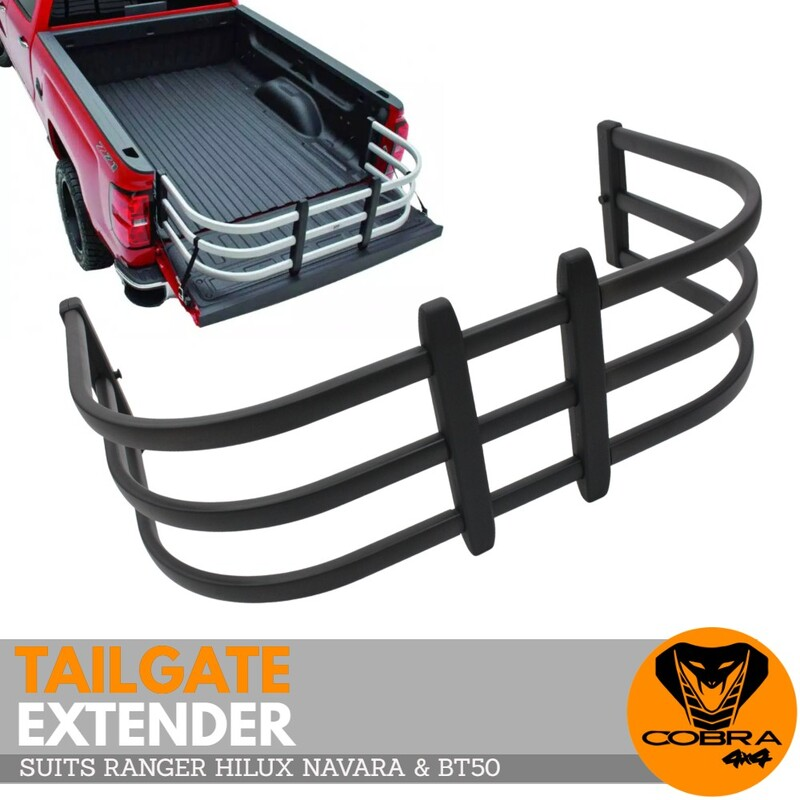 Cobra 4x4 Universal Tub Tailgate Extender Suits Ranger BT50 Hilux Navara NP300 Triton Extension dirtbike Carrier